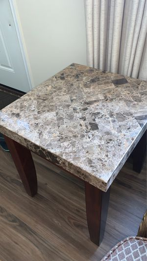 Heavy duty marble end tables 2 of them available for Sale in Catonsville, MD