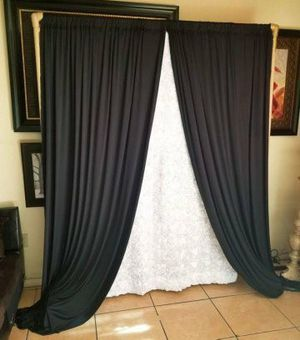 Black curtains for Sale in Fontana, CA