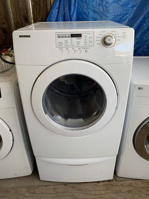 Dryer Samsung electric front load with 3 months warrant y free Delivery installation.<<<hablo español> for Sale in Oakland, CA