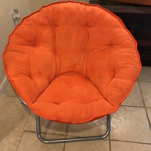 Orange adult size saucer chair for Sale in Eolia, MO