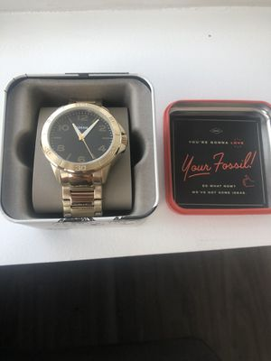 Fossil men watch gold for Sale in Chicago, IL