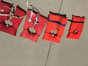 4 life vest jackets for Sale in El Cajon, CA