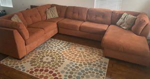 Ashley 3 piece sectional/ coffee table/canvas painting for Sale in Norfolk, VA