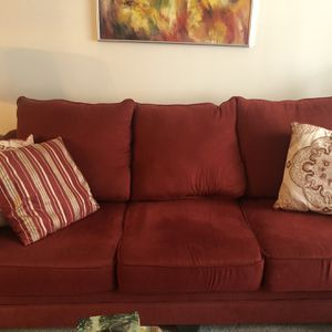 "93"" Red Sofa for Sale in Marlboro Township, NJ"