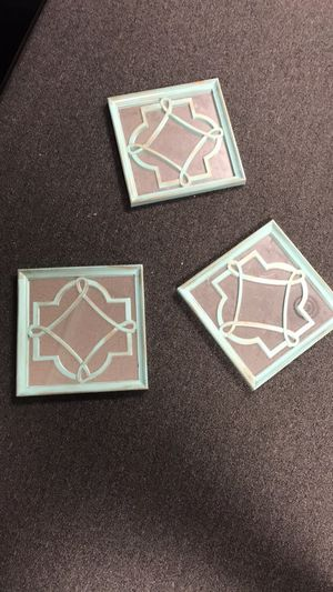 Teal mirror wall decor for Sale in Parma, OH