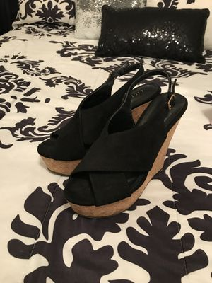 Black wedges size 7 for Sale in Fresno, CA