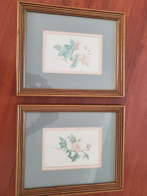 Two Framed Flower Prints for Sale in Beverly Hills, CA