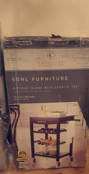 Kitchen island with granite countertops for Sale in Detroit, MI