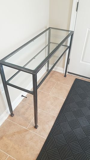 """42"""" by 30"""" Glass and Metal Console Table for Sale in Germantown, MD"""