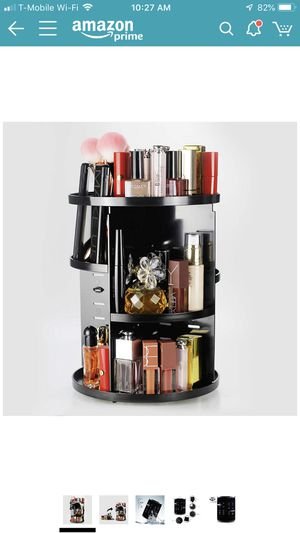 Brand new Unique Home 360 Rotating Makeup Organizer,Large Capacity,Adjustable Makeup Storage ,Fit Lipsticks,Cream,Brushes,Jewerlry,Countertop Shelf, for Sale in Victorville, CA