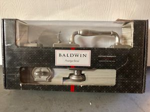 Baldwin Wesley satin n Excellent condition new/ Baldwin prestige offers effortless, accessible style & luxury with superior security. Fit standard do for Sale in Garden Grove, CA