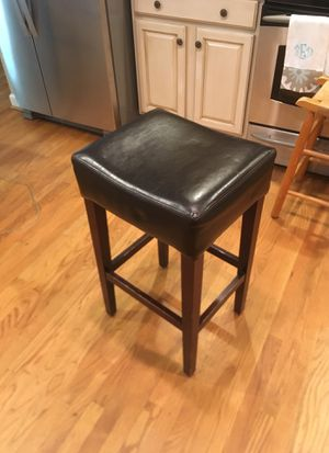 Black Leather Kitchen Stool for Sale in Roswell, GA