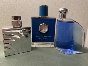 3 Designer Fragrances for sale! (Beckham, Camuto, Nautica!) 99% full!! for Sale in Lake Worth, FL