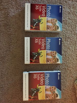Corel photo video suite x6 lot of 3 for Sale in Roselle, IL