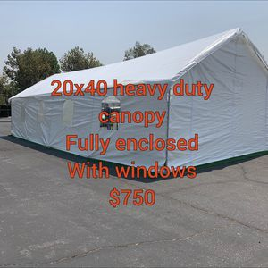 20x40 Heavy duty Canopy Fully Enclosed for Sale in Moreno Valley, CA
