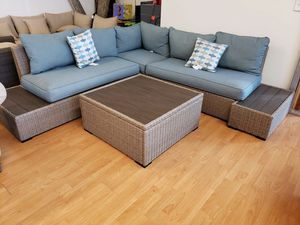 New outdoor patio furniture sectional sofa with coffee table tax included free delivery for Sale in Hayward, CA