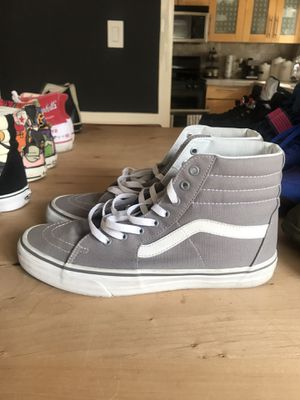 High top gray vans Size 10.5 for Sale in Los Angeles, CA