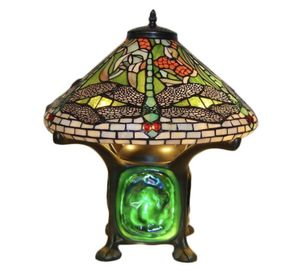 TIFFANY DRAGONFLY DOUBLE LIT STAINED GLASS LAMP 110volt for Sale in Kansas City, MO
