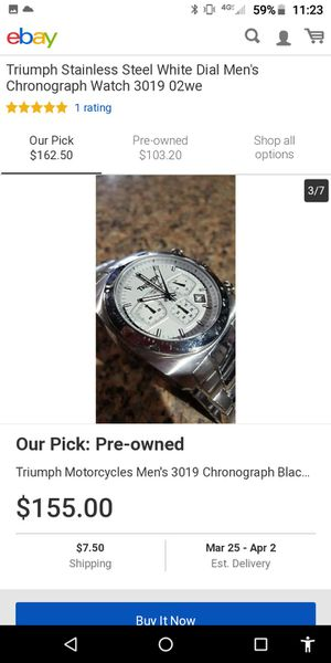 Triumph motorcycle watch for Sale in San Jose, CA