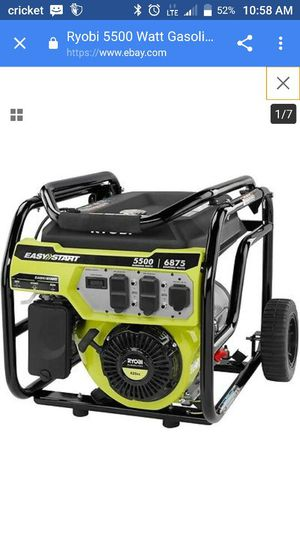 Ryobi generator 5500 watts for Sale in Columbus, OH