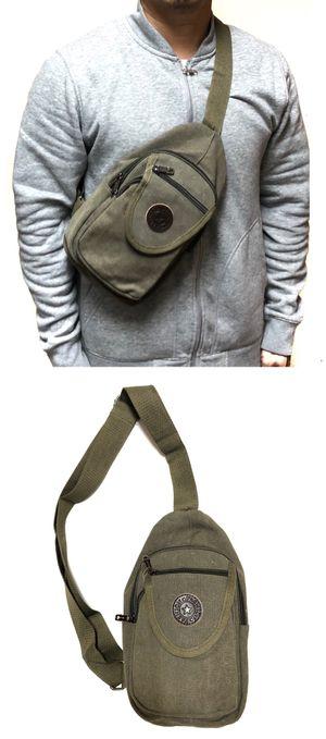NEW! Canvas Side Bag Cross Body Bag messenger backpack gym bag cell phone tablet holder wallet school bag work travel bag for Sale in Carson, CA
