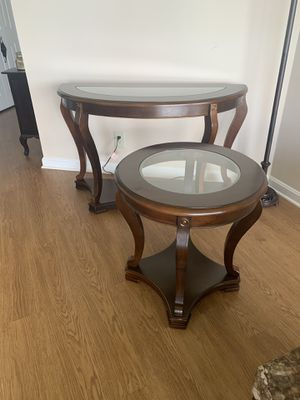 2 Wood & Glass Tables for Sale for Sale in Arlington, VA