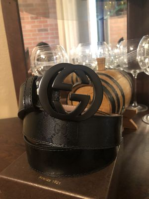 BLACK GG BELT 100% Leather for Sale in Modesto, CA