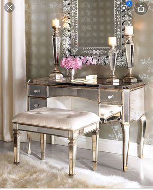 Claudia mirror desk from Neiman Marcus for Sale in Beverly Hills, CA