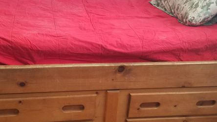 Twin Captain's Bed with matching dresser for Sale in Denver,  CO