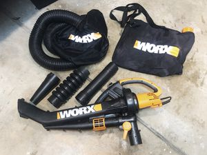 WORX Trivac 3 in 1 Electric Blower/ Mulcher/ Vacuum with leaf collection for a bin for Sale in Roseville, CA
