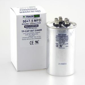TRADEPRO® - TP-CAP-50/7.5/440R 50+7.5 MFD 440V Round Run Capacitor for Sale in Phoenix, AZ