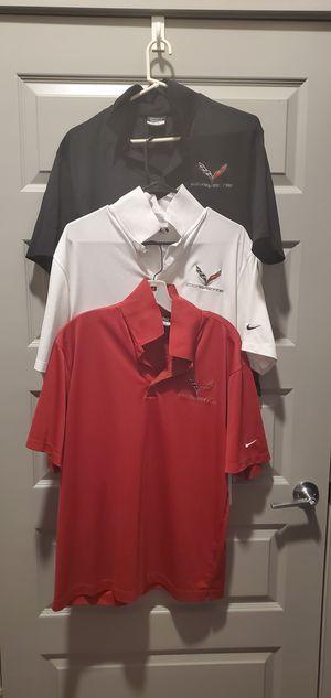 3 Nike Golf Dri-Fit Corvette Polo Size M for Sale in Chantilly, VA