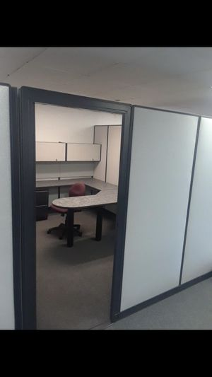 7 foot tall cubicle with door free install and delivery for Sale in Payson, AZ