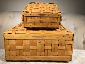 Longaberger hand woven baskets for Sale in Pasadena, CA