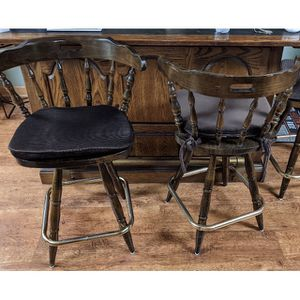 Brown Bar stools 4 With Cushions Free for Sale in Irwin, PA