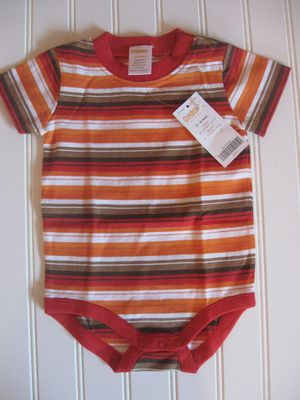 NWT Gymboree Baby Boys 3-6M Stripe Fall Color Thanksgiving Bodysuit Top 3-6 Month for Sale in Tacoma, WA