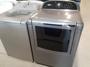Whirlpool tap load washer and electric dryer mix and match set used good condition with 90 day's warranty for Sale in Mount Rainier, MD