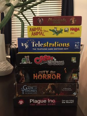 Board Games - Telestrations, Plague Inc, Game of Thrones, Cash N Guns for Sale in Elk Grove, CA