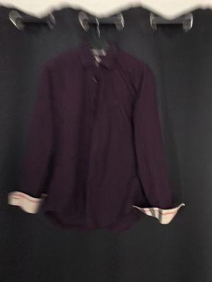 Burberry Brit Purple Medium Men's Button Down Shirt for Sale in Miami Beach, FL
