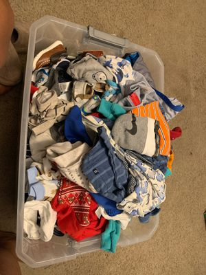Baby boy clothes,shoes &diapers for Sale in Aloma, FL