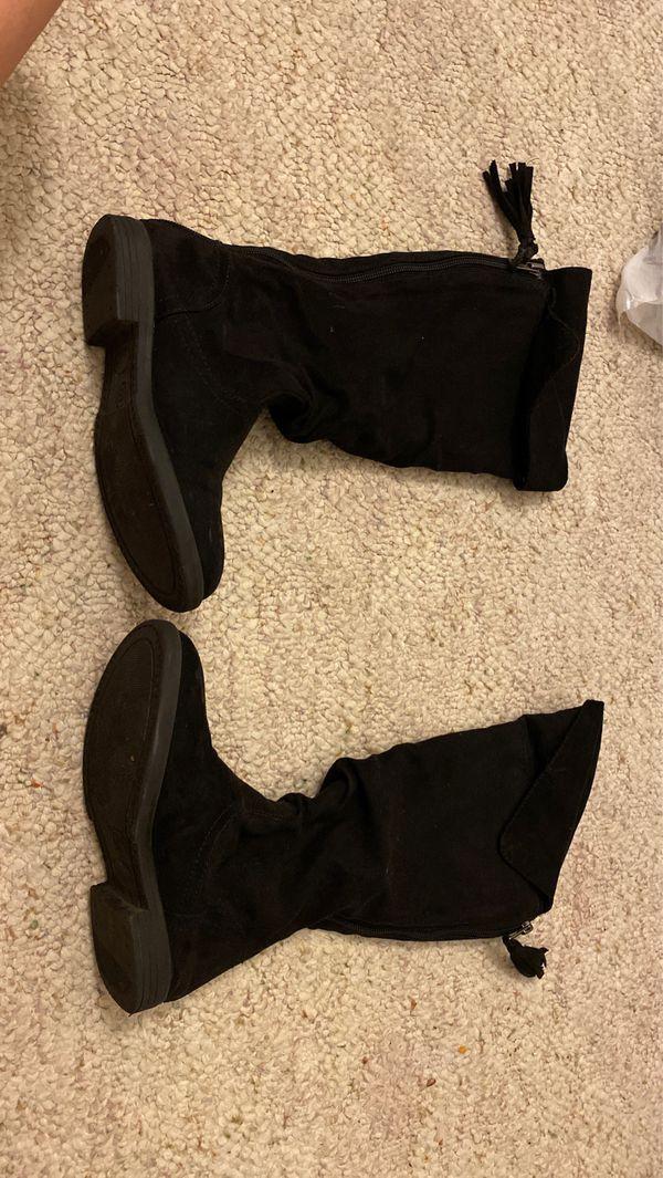 Black Boots, Size 13