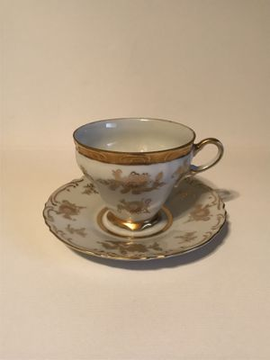 Antique Gold Floral Norcrest Fine China Tea Cup & Saucer #C-295 for Sale in Surprise, AZ