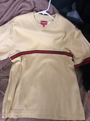 Supreme knit stripe Yellow w/ Green and Red stripe Shirt for Sale in Antioch, CA