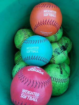 """41 Softballs & 3 Weighted Training Softballs, 30, are 12"""" & 11 are 11"""" for Sale in Indianapolis, IN"""