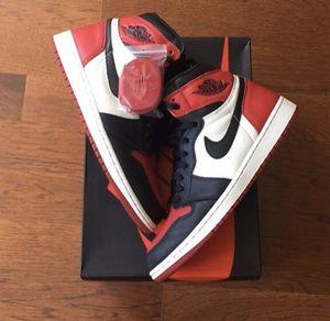 """Jordan 1 """"Bred Toe"""" size 10.5 for Sale in Columbia, SC"""