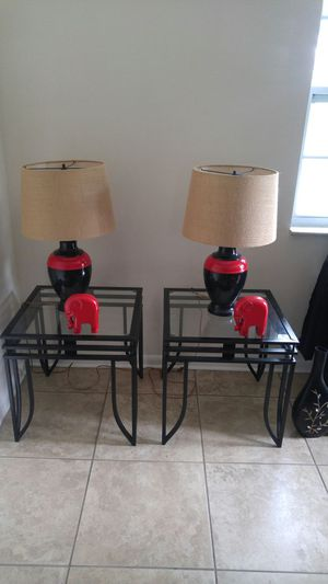 Metal end tables & lamps for Sale in Lakeland, FL