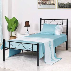 NEW GreenForest Twin Bed Frame Metal Platform with Stable Metal Slats for Sale in Fresno, CA