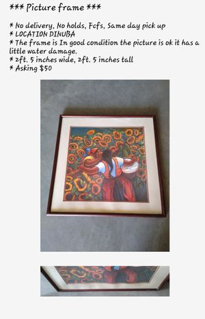 Picture frame $50 for Sale in Dinuba, CA