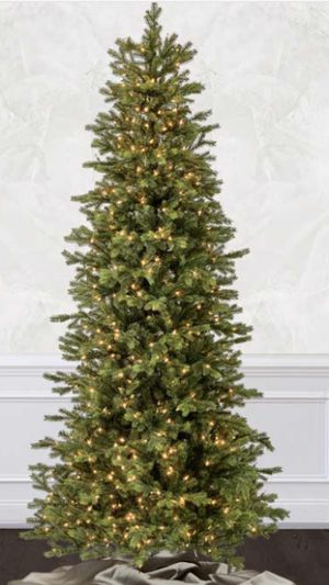 Tree time 7.5 foot Slim Wexford Spruce Tree with LEF color change lights for Sale in Hanover Park, IL