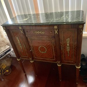 Gorgeous french antique marble top furniture console for Sale in Hollywood, FL